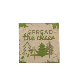 Harman Spread Cheer Kraft Cocktail Serviette