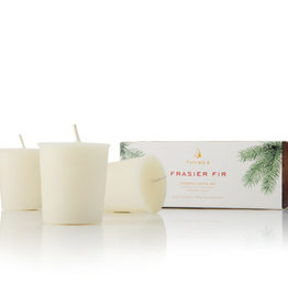 Thymes Frasier Fir Collection - Votive Candle Set