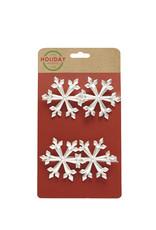 Harman Silver Snowflake Napkin Ring S/4
