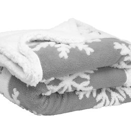 Harman Throw - Grey Snowflake Jacquard