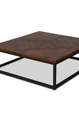 Sarreid Ltd Parquet Low Square Coffee Table