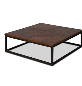 Sarreid Ltd Parquet Low Square Coffee Table