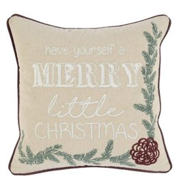 Classic Home Toss Pillow - Merry Little Christmas 18 x 18