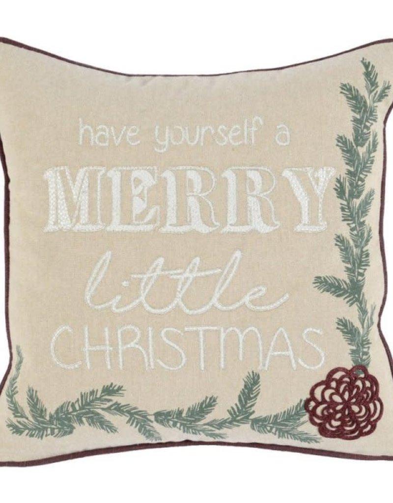 Classic Home Toss Pillow - Merry Little Christmas 18 x 18
