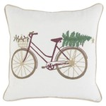Classic Home Toss Pillow - Jolly Bicycle 18 x 18