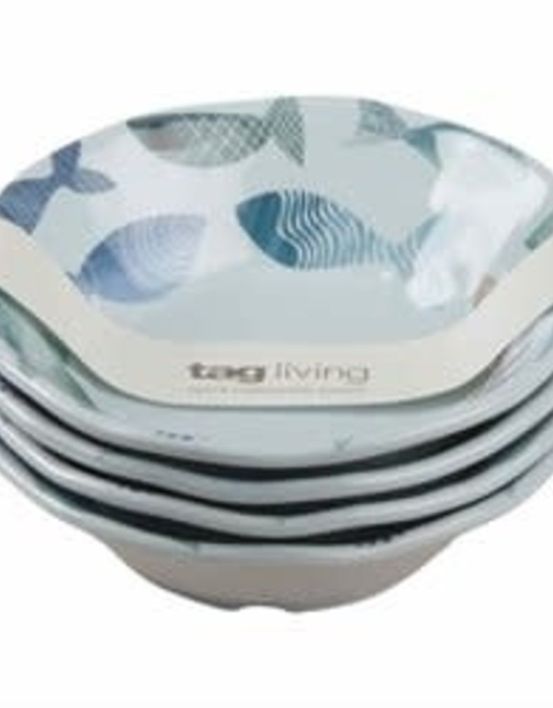 Tag ltd Melamine Bowls S/4 - Fish