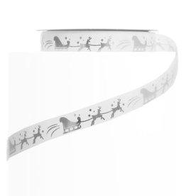 ADV Ribbon - White & Silver Sleigh