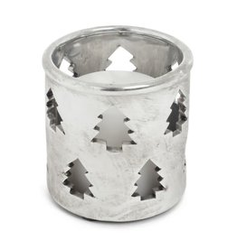 ADV Silver Cutout Votive Holder