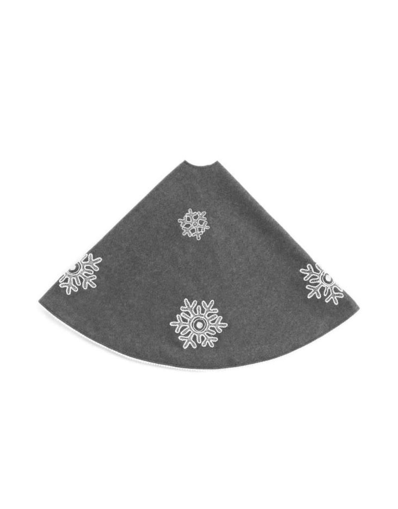 ADV Charcoal Snowflake Tree Skirt