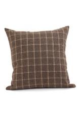 ADV Toss Pillow - Wool Check 18x18, Incl Feather Stuffer
