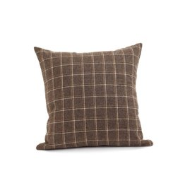 ADV Toss Pillow - Wool Check 18x18, Incl Feather Stuffer