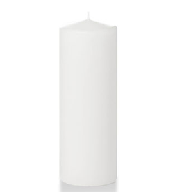 Hofland Pillar Candle, White 3x8