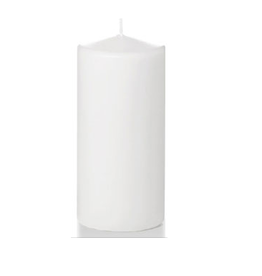 Hofland Pillar Candle, 3x6 White