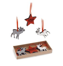 ADV Deer & Star Ornament Set
