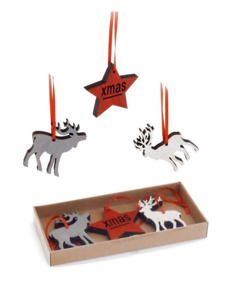 ADV Deer & Star Ornament Set