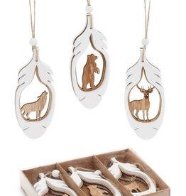 ADV Wooden Animal Ornament Set