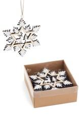 ADV Wooden Snowflake Ornament Set