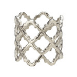 Harman Lattice Napkin Ring Silver