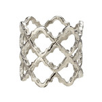 Lattice Napkin Ring Silver