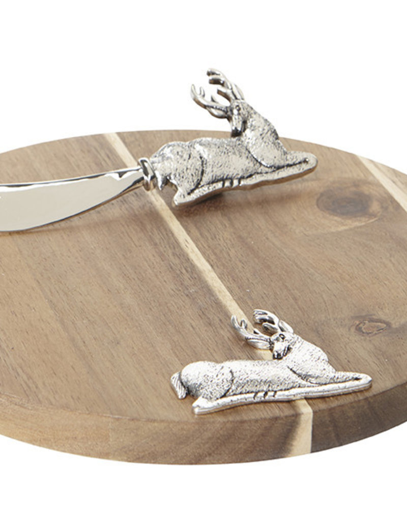 Harman Reindeer Round Acacia Board/Spreader