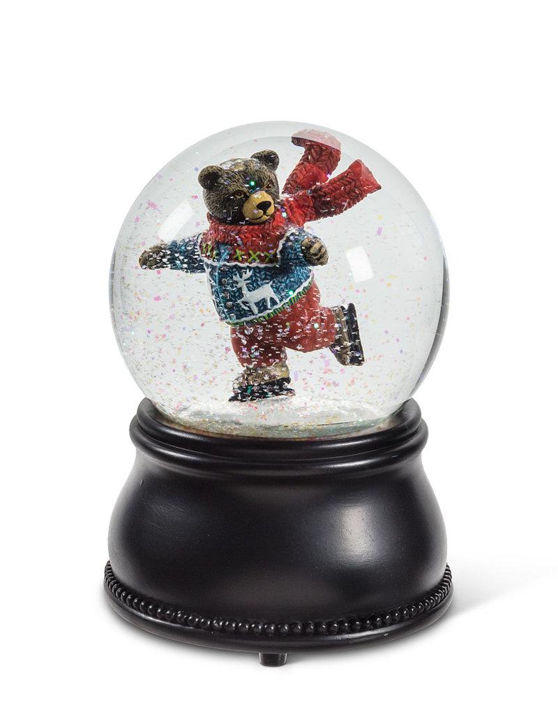 Abbott Skating Bear Music Snowglobe