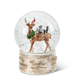 Abbott Deer with Wreath Snowglobe