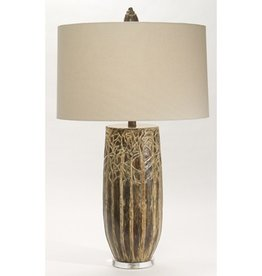 The Natural Light Brown Forest Table Lamp