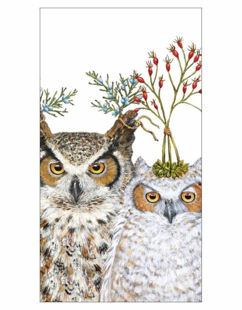 Paper Products Design Holiday Hoot Guest Towel