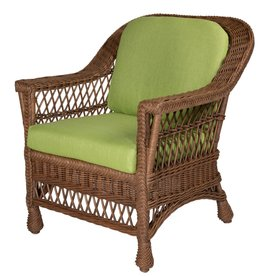 Designer Wicker Harbor Front Arm Chair - Muslin