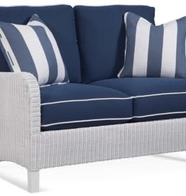 Braxton Culler Gibraltar Wicker Loveseat - Navy