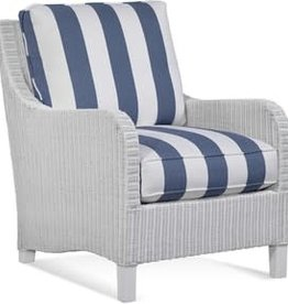 Braxton Culler Gibraltar Wicker Chair - Navy & White Stripe