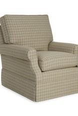 CR Laine Haddonfield Swivel Glider Chair - Seurat Charcoal