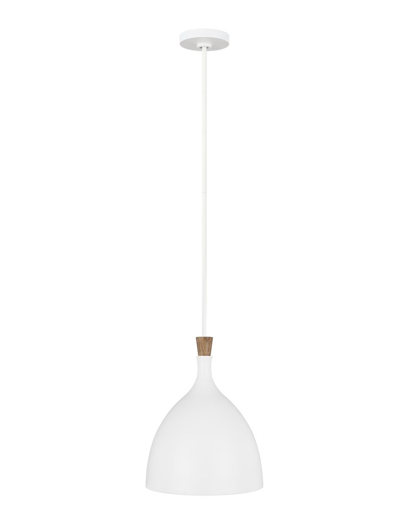Feiss Darwin 1-Light Pendant - Matte White