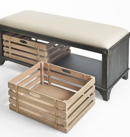 Braxton Culler Artisan Landing Storage Bench - Moonlight Black