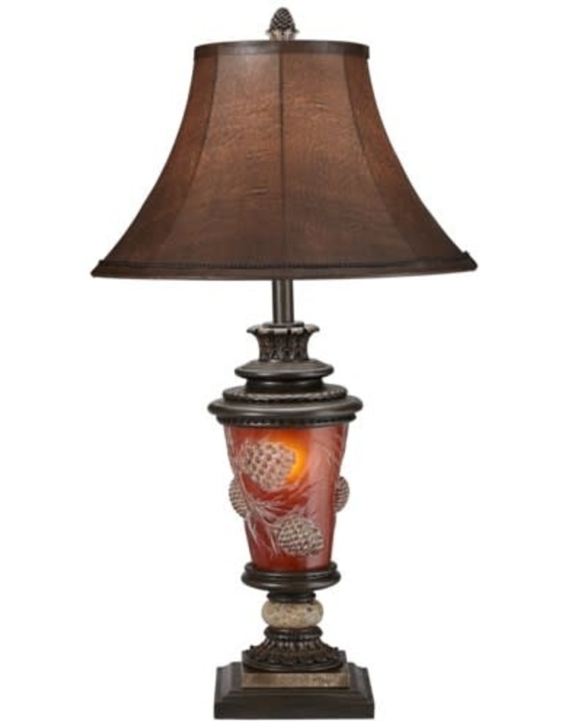 Pacific Coast Lighting Poly Pinecone Glow Table Lamp