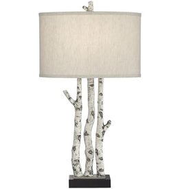 Pacific Coast Lighting White Forest Table Lamp