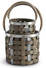 Mudpie Woven Wood Lantern S/2