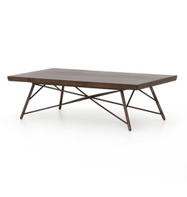 Four Hands Rocky Coffee Table - Smoked Saman