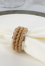 Saro Trading Company Rope Napkin Ring - Set of 4