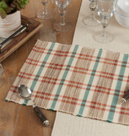Saro Trading Company Plaid Woven Water Hyacinth Placemat