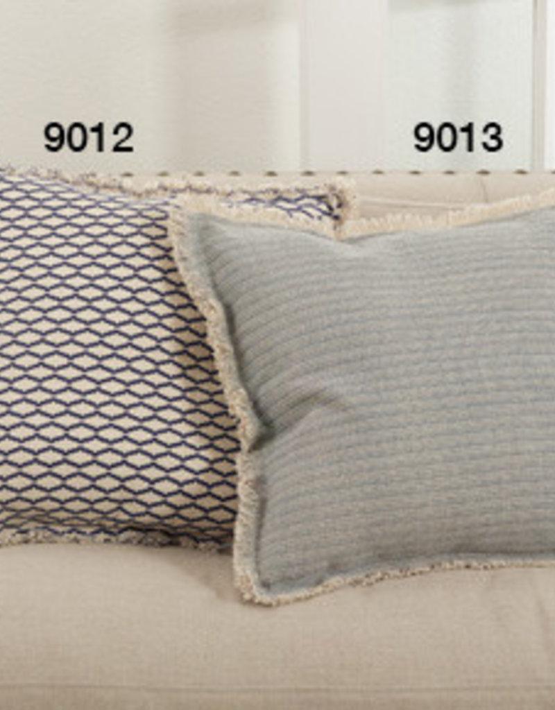 Saro Trading Company Fringed Pinstriped Pillow