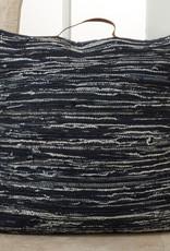 Saro Trading Company Denim Chindi Pillow - Navy Blue