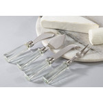 Glass Handle Cheese - Set of 4