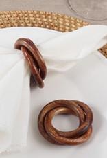 Saro Trading Company Wooden Interlock Napkin Ring
