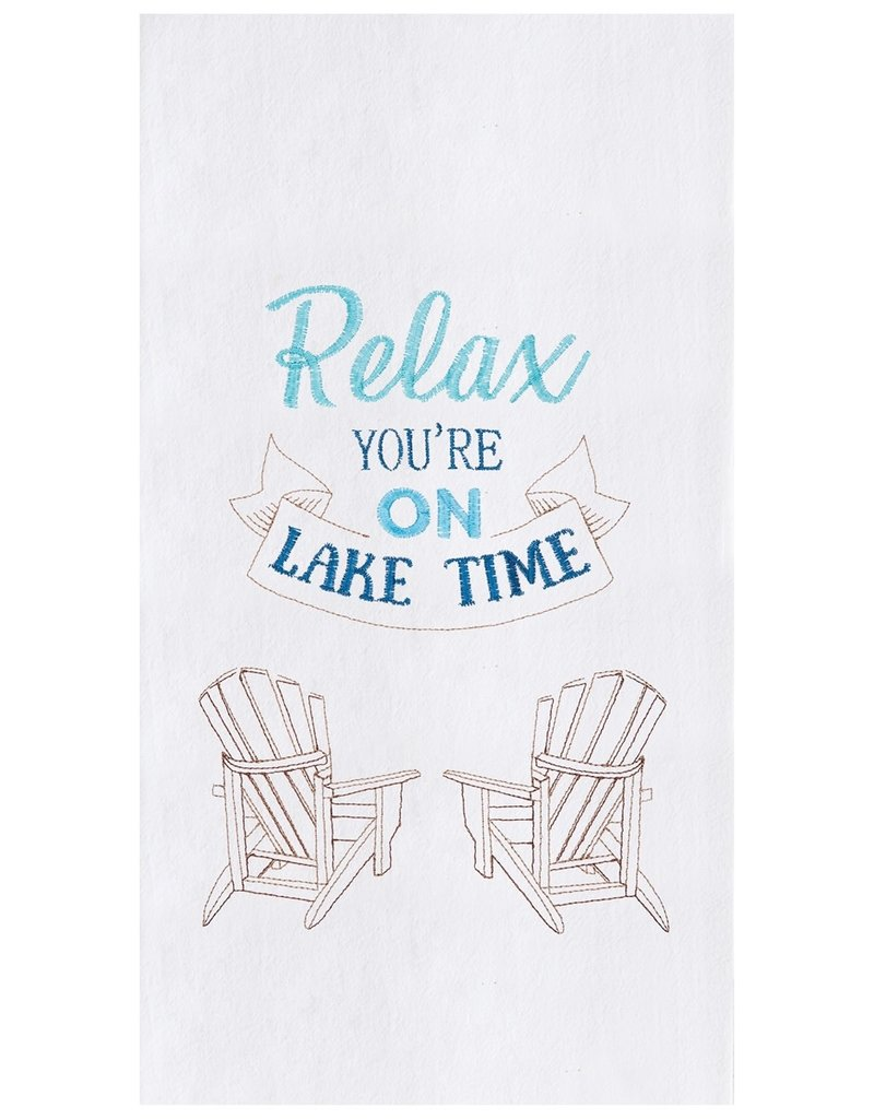 C&F Enterprises Relax lake Time Kitchen Towel