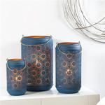 Torre & Tagus Safir Blue Cutout Lantern
