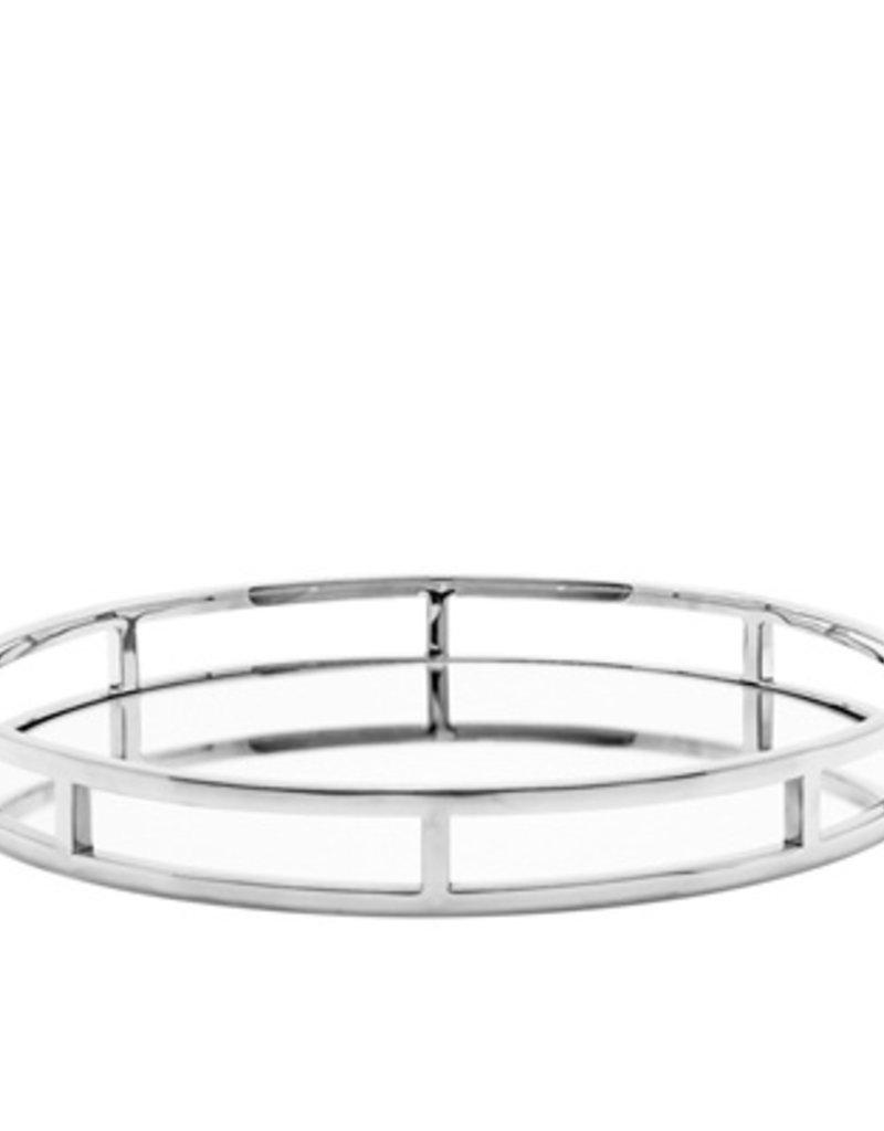 Torre & Tagus Lux Round Mirror Tray