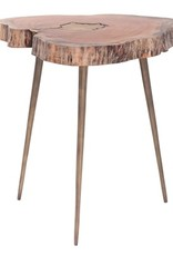 Torre & Tagus Petra Acacia Molten Side Table