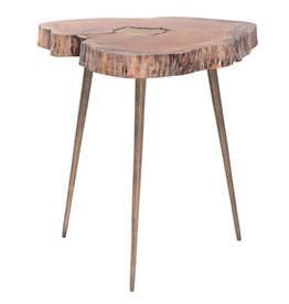Torre & Tagus Petra Acacia Molten Side Table