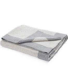 Torre & Tagus Herringbone Grey Cotton Throw